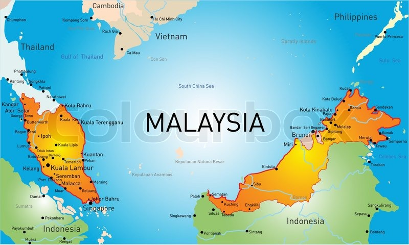 vector map of malaysia country stock vector colourbox travel guide vietnam cambodia travel guide vietnam lonely planet