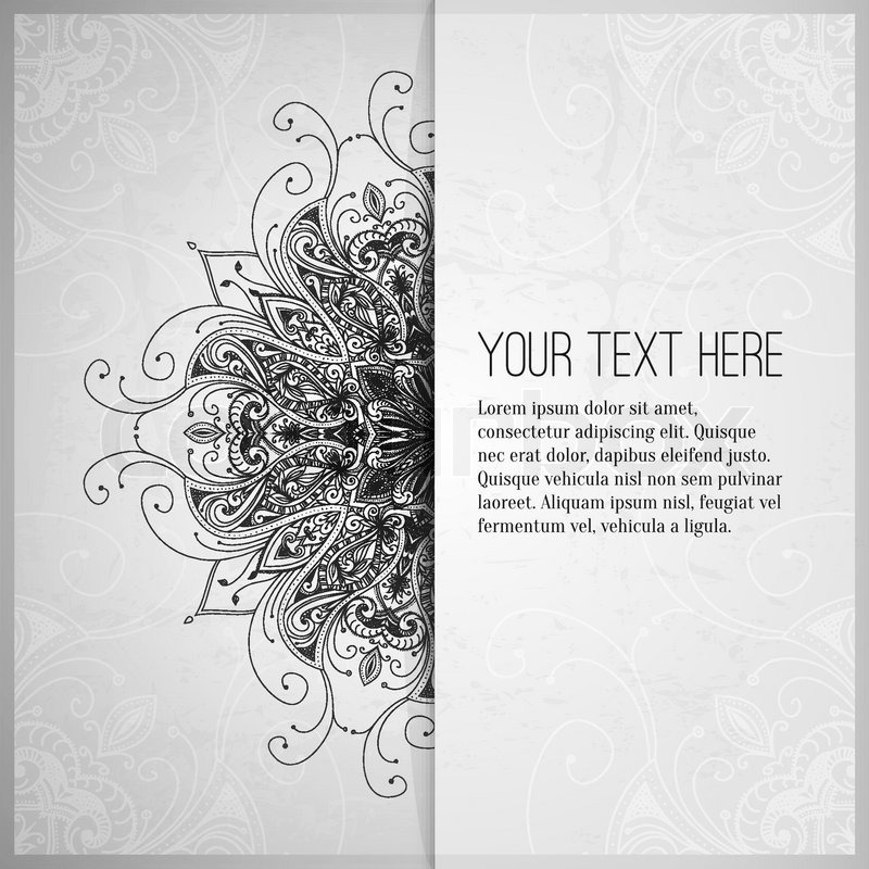 Vintage vector pattern. Hand drawn abstract background. Retro banner ...