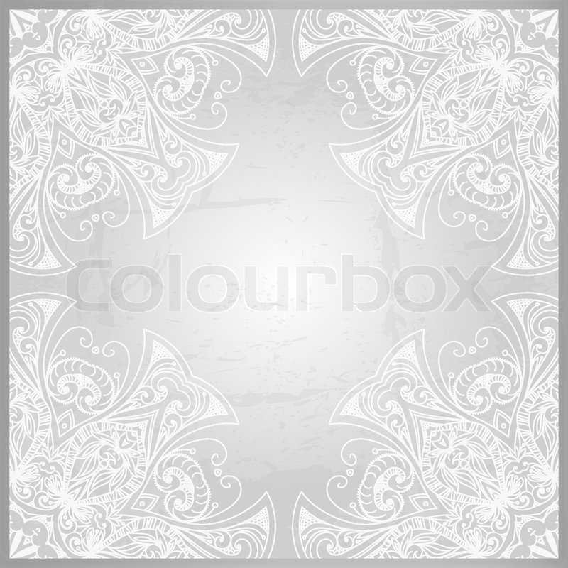 Vintage Vector Pattern Hand Drawn Abstract Background Retro Banner