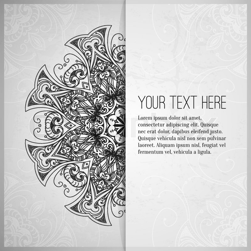 Vintage Vector Pattern Hand Drawn Stock Vector Colourbox