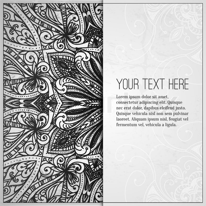 Book Cover Design Pattern ~ Vintage vector pattern hand drawn abstract background
