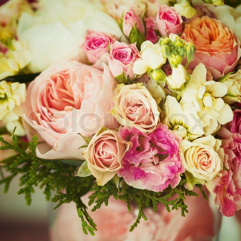 Hochzeitsblumen Instagram Effekt Stockfoto Colourbox