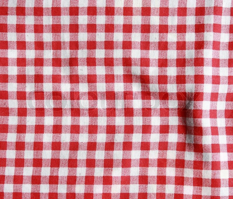 Texture Of A Red And White Checkered Stock Image Colourbox