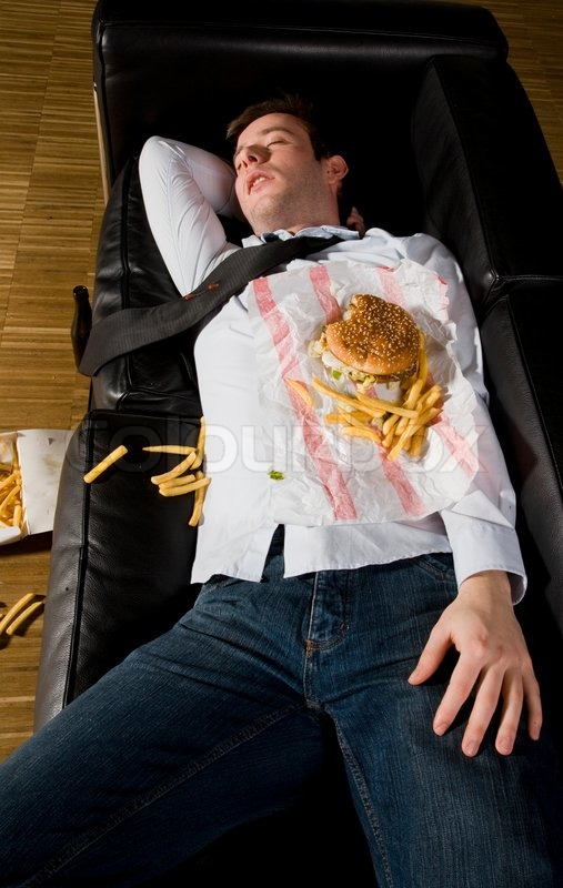 Top View Of A Sleeping Businessman With Stock Photo