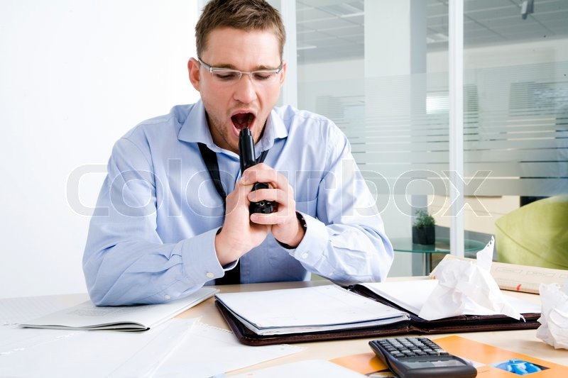 Depressed Businessman Committing Suicide Stock Photo
