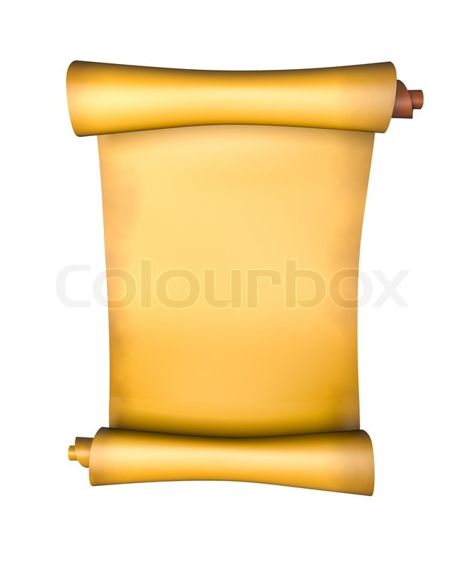 old parchment paper scroll 3d illustration stock photo colourbox