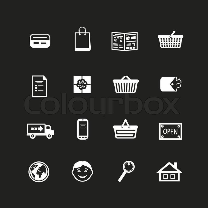 Sammlung von e-Commerce-Schnittstelle-Piktogramme | Vektorgrafik ...