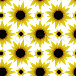 seamless texture with sunflowers vector colourbox