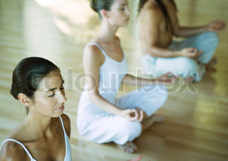 Image of 'french, meditation, brunette'