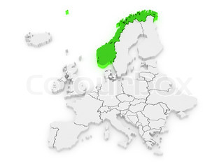 Norway And Spain Stock Photo Colourbox - Norway map cartoon