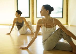 Image of 'yoga, sitting, inside'