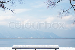 Image of 'bench, scenery, winter'