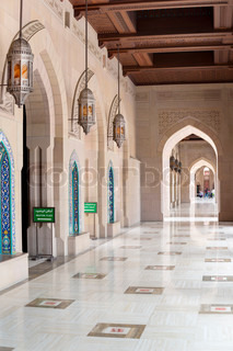 Collonade Grand Sultan Qaboos Mosque