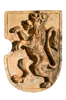 Coat clay with Bavarian lion