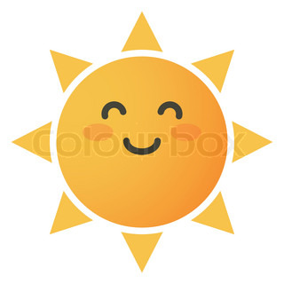 happy sun gesturing with hands stock vector colourbox rh colourbox com Happy Face Sun Clip Art Happy Sun Cartoon