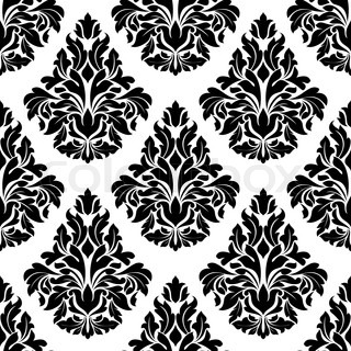 Intricate black and white arabesque design with a large for Arabesque style decoration