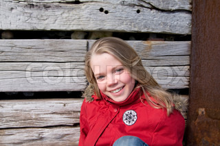 Smiling face of an adolescent girl
