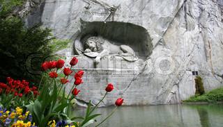 Lucerne, Switzerland, Lion Monument