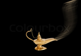 Arabic vessel on a black background