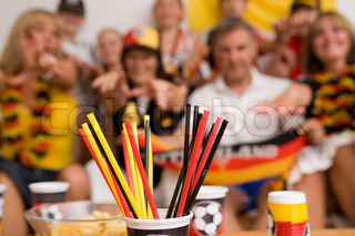 Blurred image of german football fans