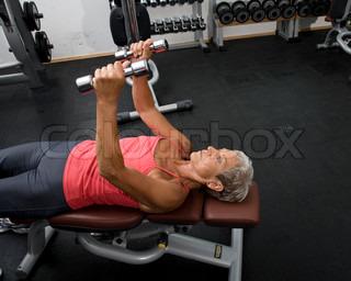 Billede af 'håndvægt, ældre, fitness'
