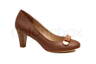 Brown female shoe