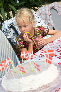 A young danish girl attending a birthday party