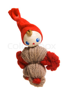 Christmas decoration (an elf)  on white background