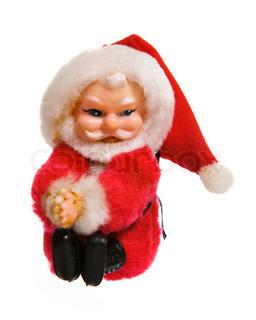 Christmas decoration (Santa Claus) on white background