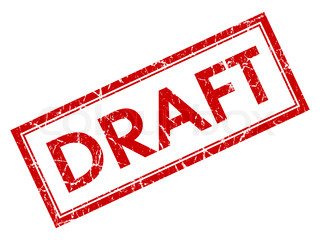 Draft Stamp Shows Outline Document Or Letters | Stock Photo