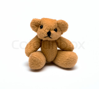 Toy bear isolated over white background