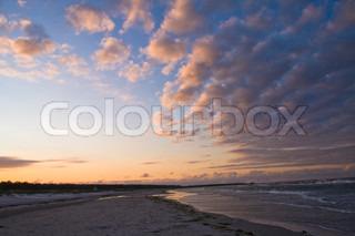 Cloudscape at dawn