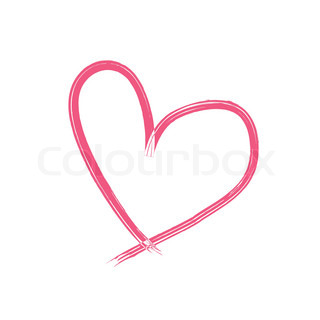 Heart drawing in pink