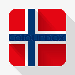Simple flat icon Norway flag.