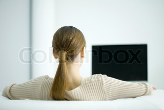 Image of 'tv, watching, couch'