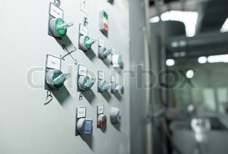Electrical equipment in a woodworking factory