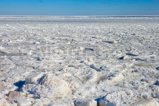 Frozen Baltic sea.