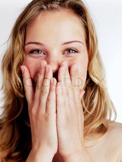 Image of 'giggling, woman, girl'
