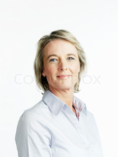 A smiling confident businesswoman