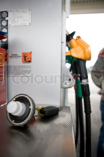 Gasoline filling pump station
