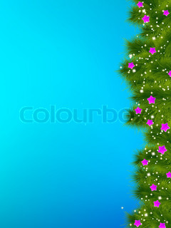 Thank you card on a bright blue christma. EPS 8