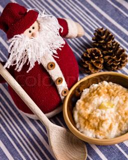Bowl of Christmas rice porridge