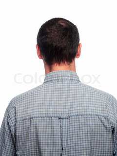 Back of a middle-aged man