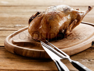 Traditional Danish Christmas food - roast duck