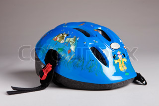 Blue kid's helmet
