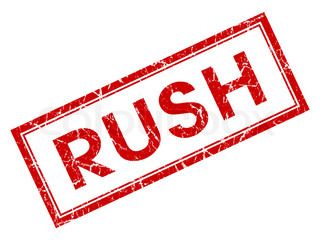 Rush Rubber Stamp Shows Speedy Urgent Express Delivery  stock photoRush Delivery Stamp