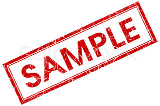 sample stamp shows example symbol or taste stock photo colourbox