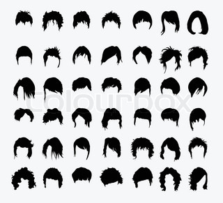 Outstanding Cartoon Girls With Different Hairstyles Vector Set Stock Vector Hairstyle Inspiration Daily Dogsangcom