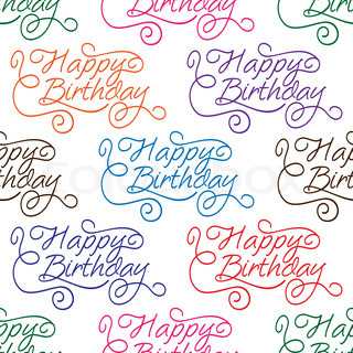 Happy Birthday seamless background pattern
