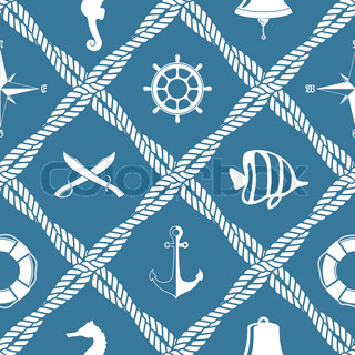Sea stencil set: handwheel , anchors, pattern from sea ...